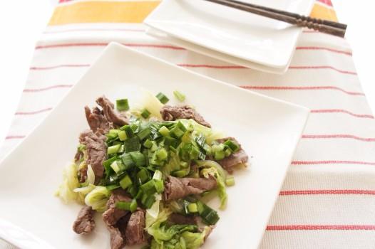 牛肉と白菜の重ね蒸し